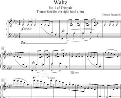 chopin spring waltz sheet music instrumental piano transcription