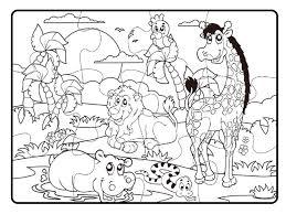 Teorema 64802 Puzzle Da Colorare Animali Della Savana 18 Pastelli