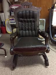 Rocking Couch Victorian Platform Antique Rocker Rocking Chair 2 Chairs