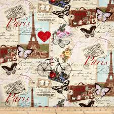 Timeless Treasures Paris Collage Antique - Discount Designer Fabric -  Fabric.com
