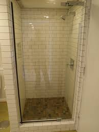 tiled corner shower stalls. Chic Corner Shower Stalls For Small Space Bathroom: Nice With Glass Door And Subway Tile Decorate Bathroom Ideas Tiled N