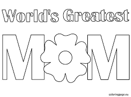 Worlds Greatest Mom Coloring Page Mom Coloring Mom Coloring