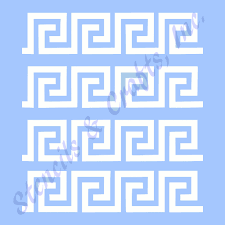 Greek Templates Greek Key Roman Stencil Border Stencils Pattern Template Templates 6