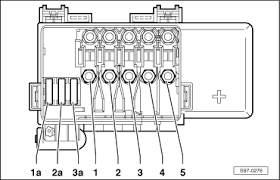 skoda workshop manuals > octavia mk > electrical system electrical system > electrical system > wiring > major electrical assignments and major plug connections > main fuse box