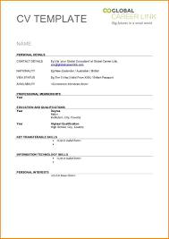 9 Blank Basic Resume Template Skills Based Resume