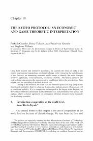 the kyoto protocol an economic and game theoretic interpretation inside