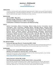 Medical Transcriptionist Resume General Radiology Resume Sample