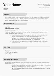 18 Fresh Free Resume Templates Online Collections