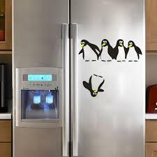Fridge Stickers Aliexpresscom Buy Funny Penguin Kitchen Fridge Sticker Diy