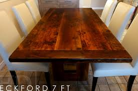 reclaimed wood dining room tables details