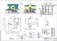 Готовые курсовые проекты по архитектуре скачать бесплатно 01 Коттедж по архитектуре А1