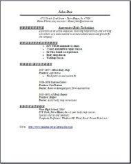 Auto Body Technician Resume Auto Body Technician Resume Occupationalexamples samples Free 2