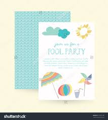 summer party invitation pool party invitation stock vector summer party invitation pool party invitation vector template