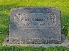 Alice Elizabeth Robbins (Bobenhouse) (1872 - 1946) - Genealogy