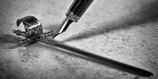 the pen defining the sword perhaps the pen is mightier than the  the pen defining the sword perhaps