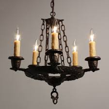 handsome antique five light tudor chandelier cast iron nc1650 rw for antiques com classifieds