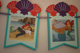 Designer Bunting Designer Banner Disneys Little Mermaid Storybook