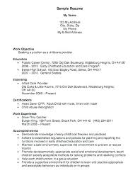 Daycare Resume Objective Resume For Child Care Daycare Director ...