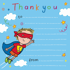 Thank You Notes For Kids, Thank You Cards For Children, Kids Thank ...