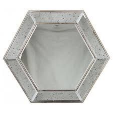 antique classic hexagon wall mirror decorative home decor