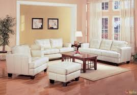 Living Room Sofa And Chair Sets Samuel Cream Off White Bonded Leather Living Room Sofa Amp
