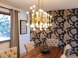 angelic decorating ideas using brown loose curtains and cylinder white glass chandeliers