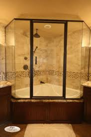 corner whirlpool tub shower combo - i would add a second shower head