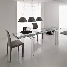 light all glass extendible dining table by compar thumbnail