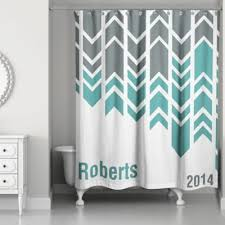 turquoise and grey shower curtain arrow line shower curtain in greengreywhite blue yellow and gray shower