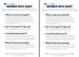 Personal Information Sheets Member Info Sheets Why Should I Sign Up Flocknote Help
