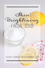 diy skin brightening scrub
