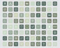 Forest Green Aesthetic iOS 14 App Icons ...