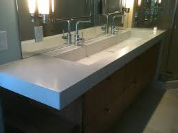 trough sinks with two faucet extravagant incredible undermount bathroom sink faucets home ideas 33