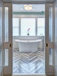 bathroom pocket doors. Art Deco Bathroom With Pocket Doors And Bathtub