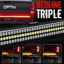 redline triple led tailgate light bar reverse sequential image 1