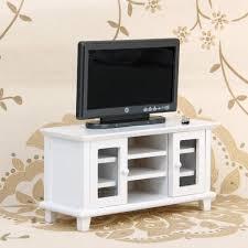 Tv Set Cabinet Designs Amazon Com Miniature Furniture White Wooden Tv Cabinet