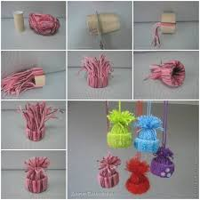 easy to make diy yarn winter hat ornaments