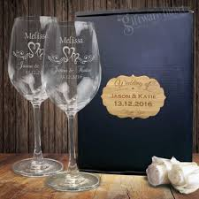 wine gl double gift boxed twin set end personalised wedding gift