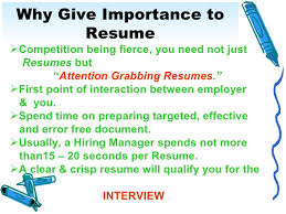 ... the justify your hiring interview; 5. Why Give Importance to Resume ...