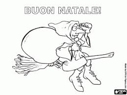 Small Picture Merry Christmas with the Befana the Italian tradition in italian