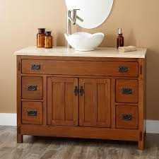 Wood Vanity Bathroom Innovative Bathroom Vanity With Vessel Sink On Vessel Sink Vanity