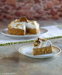 make your own olive garden pumpkin cheesecake this tastes just like it does in the