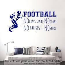 sports vinyl wall decals football no grass stain sports quote decals vinyl  wall art football no