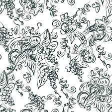 Vine Pattern Adorable Artistic Seamless Pattern With Grape Vine Royalty Free Cliparts