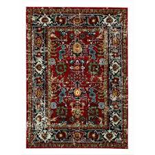city collection multicolor 5 ft x 7 ft antique faded persian mahal area rug