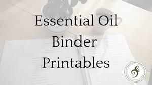 Essential Oils Organizational Binder Templates Nature Notes