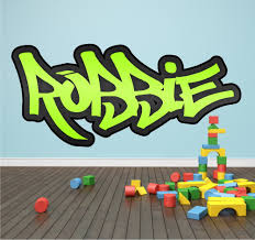 personalised graffiti name wall sticker mural art boys  on graffiti wall art bedroom with personalised graffiti name wall sticker mural art boys girls bedroom