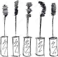 sketch of eyelash brush makeup brush sketch