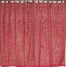 Maroon Curtains For Living Room Living Room Curtains Burgundy Paisley Ethnic Style Woven Panels