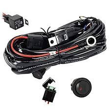 amazon com eyourlife wiring harness, heavy duty wiring harness kit Whelen Lights Diagram eyourlife wiring harness, heavy duty wiring harness kit for led light bar 300w 12v 40a